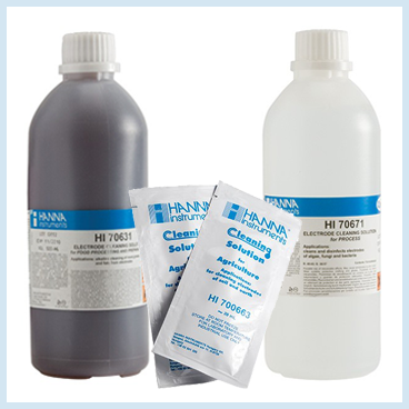 pH Buffers and Cleaning Solutions