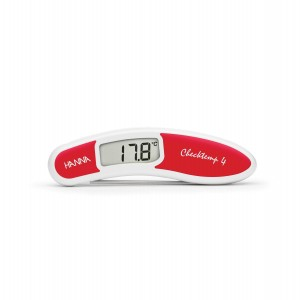Hanna HI-151-1C Checktemp4 folding thermometer - red - plus case