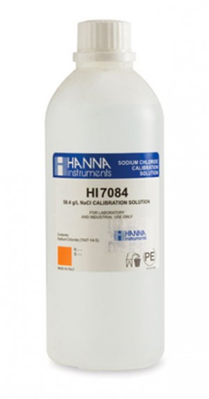 Hanna HI-7084M  Standard Solution at 58.4g/L sodium chloride (NaCl), 230ml