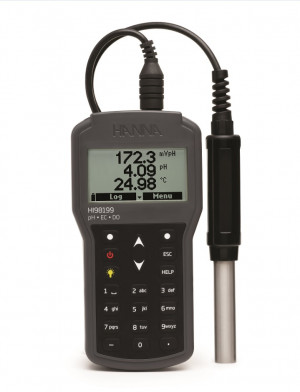 Hanna HI-98199 pH, EC, DO digital portable meter (pH electrode included only)