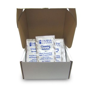 Hanna HI-700641P Cleaning and Disinfection Solution for Dairy Products, 25 x 20 mL sachets