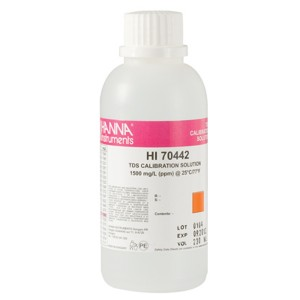 Hanna HI-70442M 1500 mg/L (ppm) TDS Calibration Solution, 230 mL bottle