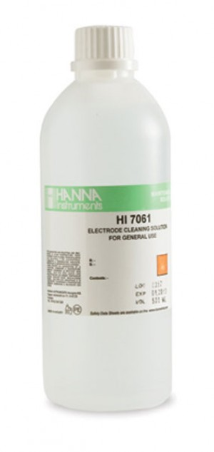 Hanna HI-7061L General Purpose Electrode Cleaning Solution, 500mL