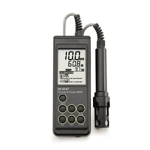 Hanna HI-9147-04 Dissolved Oxygen Meter for Fish Farming, 4m Probe