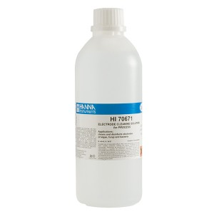 Hanna HI-70671L Electrode Cleaning Solution for Algae, Fungus and Bacteria, 500 mL