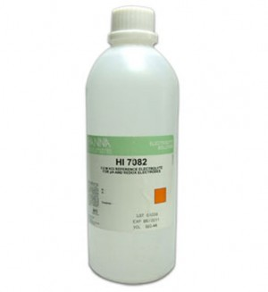 HANNA HI-7082L Electrolyte Solution for Double Junction Electrodes, 3.5M KCL 500mL